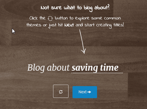 Blog Title Generator by Impact