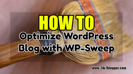 How to Optimize WordPress Blog with WP-Sweep Plugin